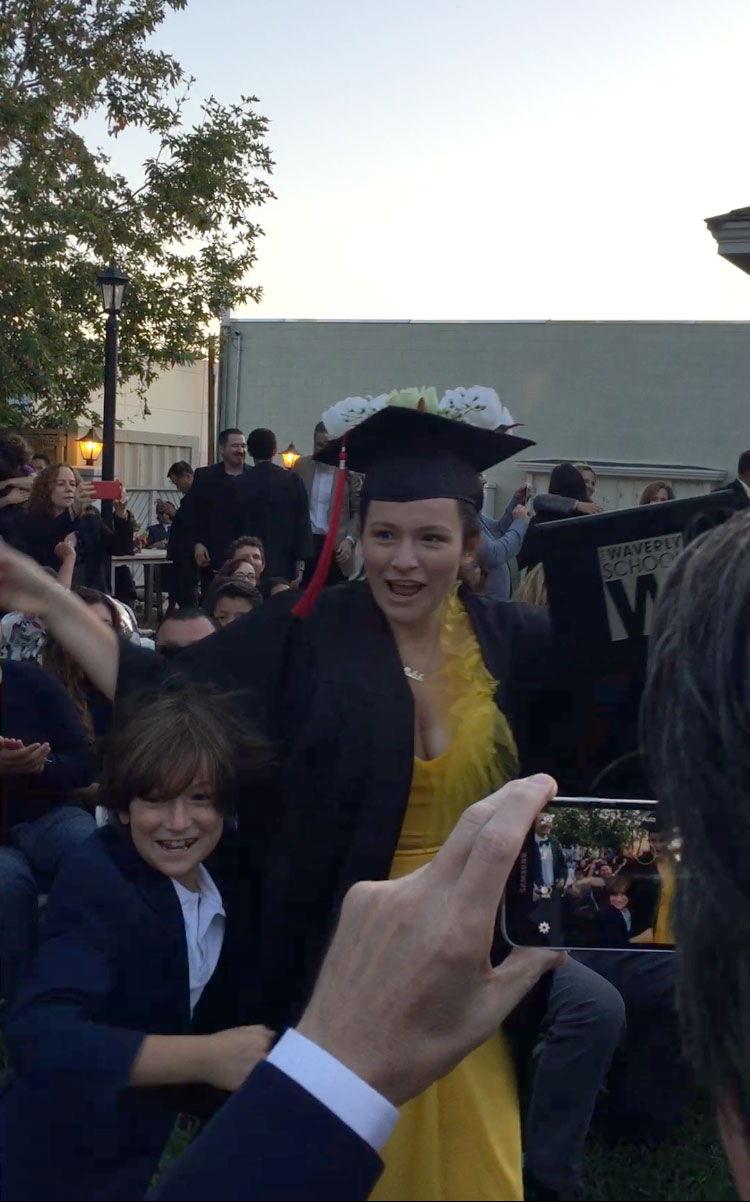 Tallulah Graduating