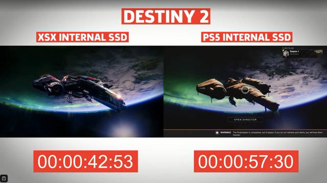 destiny 2 load time compare
