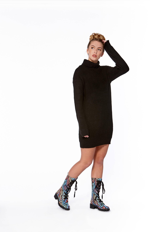 Adesso Roxy Zebra Colourful Mid-Calf Leather Boot