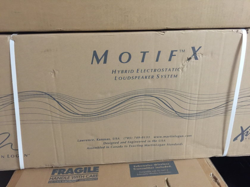 Martin Logan Motif-X center channel speaker in Black, NEW in a Sealed Box, never opened or used