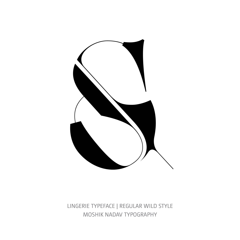 Lingerie Typeface Regular Wild ampersand