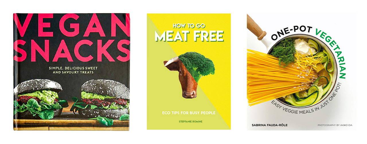vegan and vegetarian books at vinegar hill