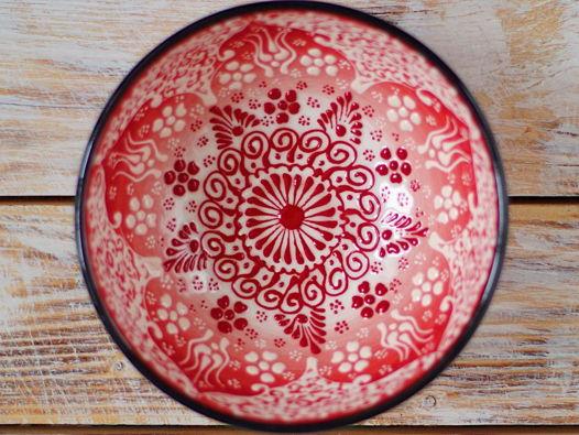 Керамическая пиала красная