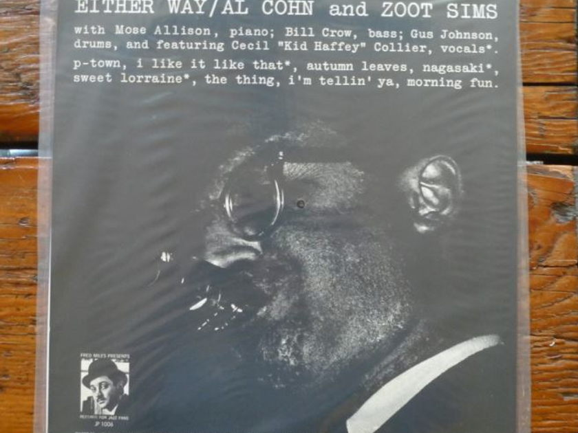 Zoot Sims/Al Cohn - Either Way Classic Records original reissue 180G 1990's Sealed