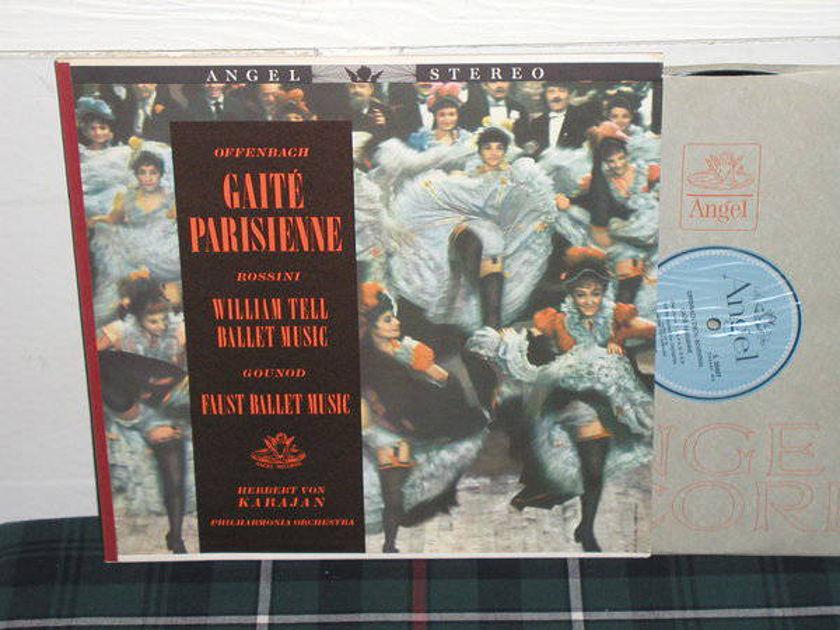 Von Karajan/TPO - Rossini/Gounod Blue/Silver label Angel LP s35607