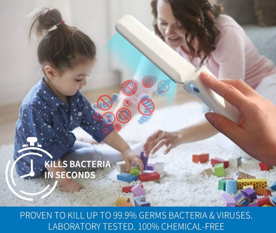 UVC Sterilize Sanitize Device, Handheld Ultraviolet Light Virus Killing, Sanitizing Light
