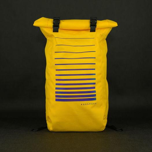 Желтый ролл топ рюкзак со светоотражающим принтом / Yellow Reflective Backpack