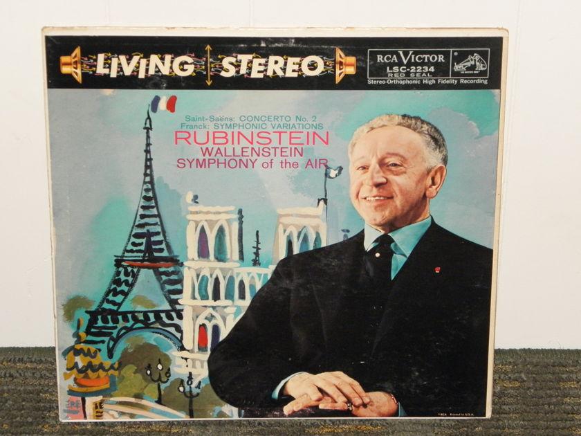 "Artur Rubenstein/Wallenstein/Symphony Of The Air - Saint-Saens Concerto No.2 >TAS< RCA Shaded Dog LSC 2234 ""I"" matrix"
