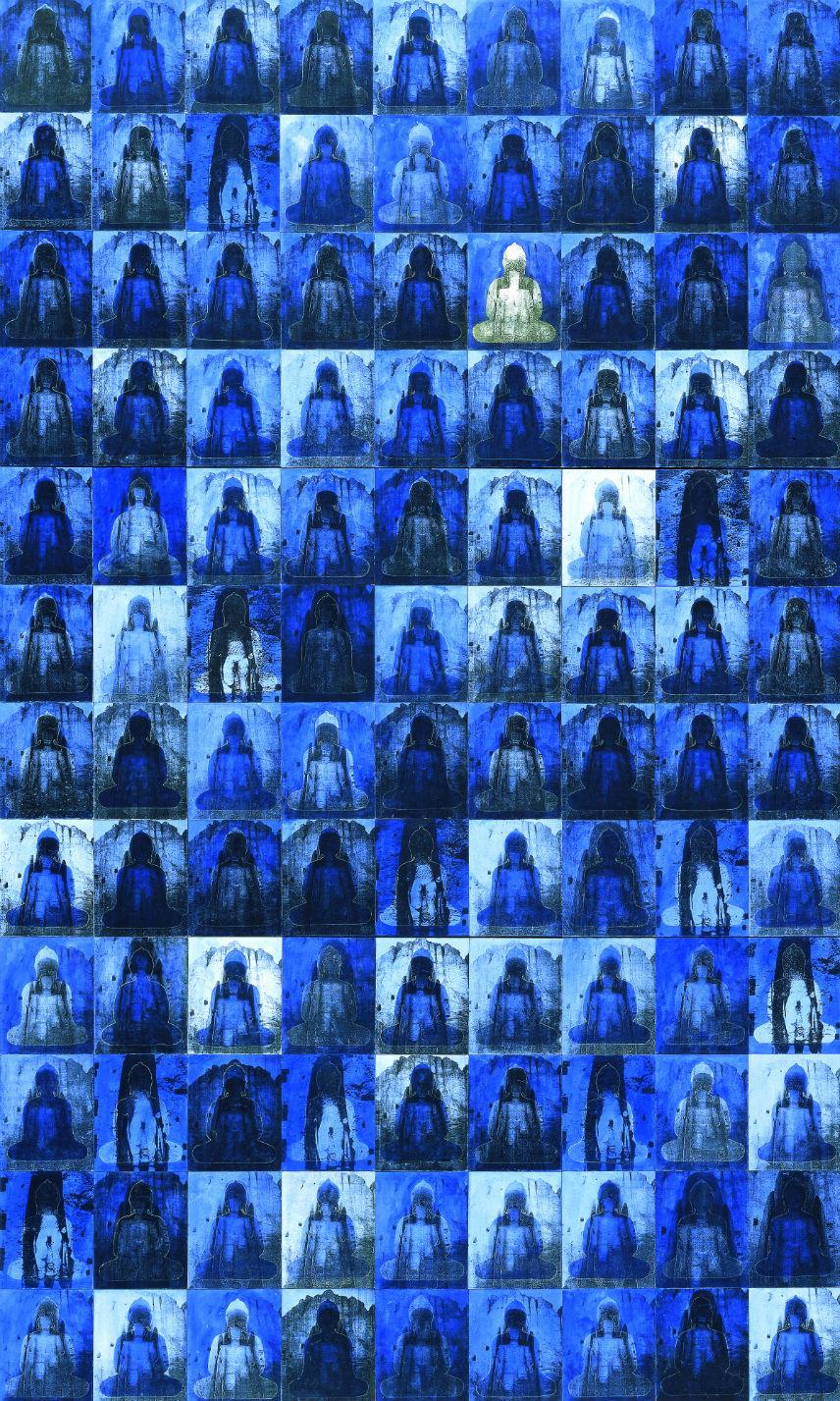 blue buddhas