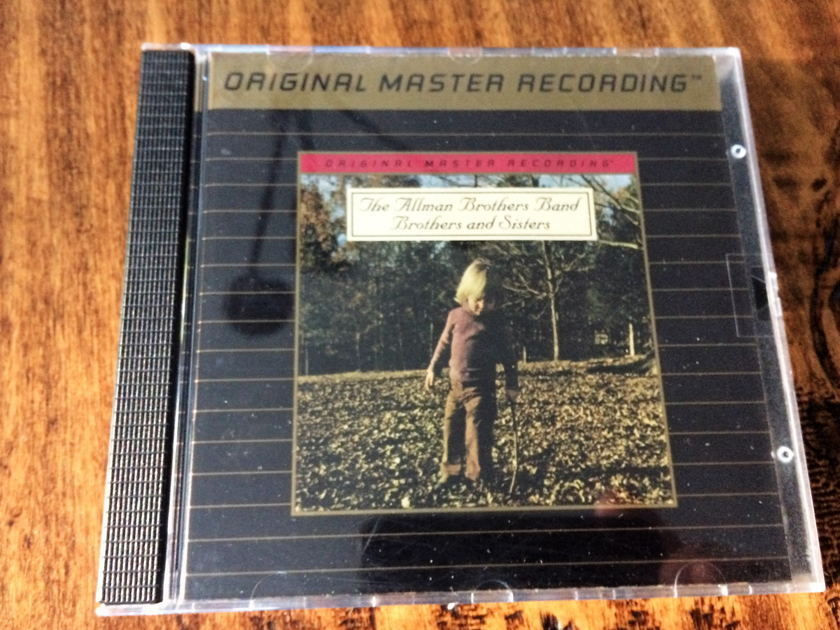 """Allman Brothers Band """"Brothers and Sisters"""" MFSL - Gold CD - Mobile Fidelity Sound Labs UDCD 617"""