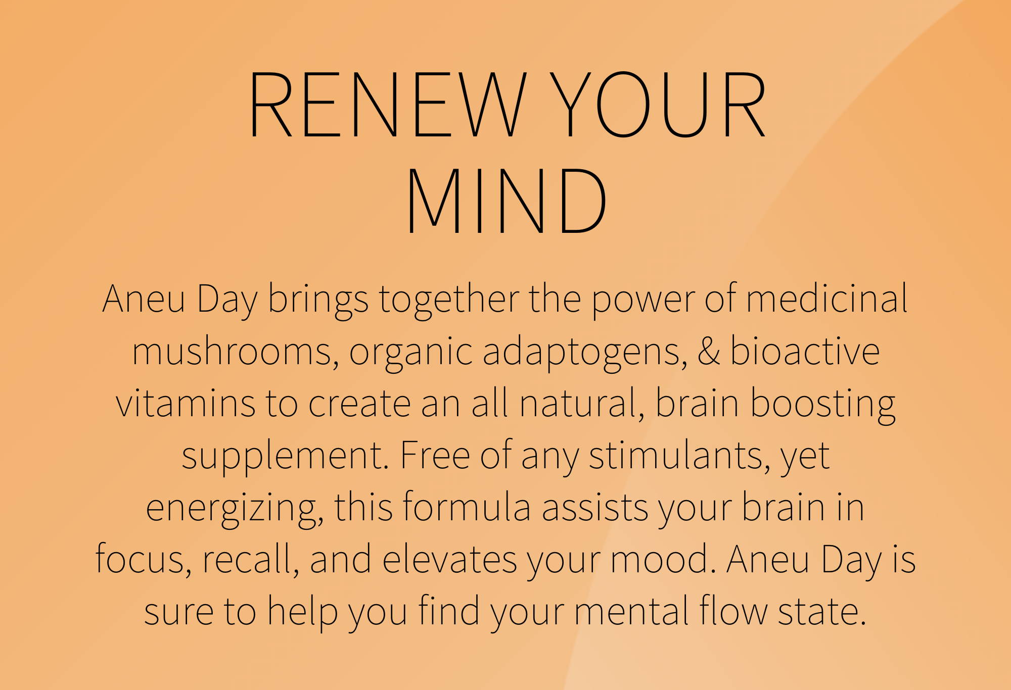 renew your mind with aneu day