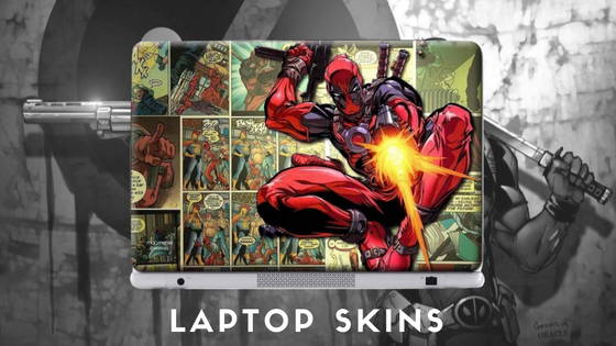 Deadpool Movie and Comic Laptop Skins for Macbook, Acer, Dell, HP, Asus, Sony and more , free shipping across India