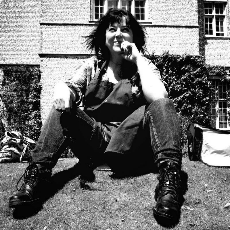 Black and white image of Joanne Webb