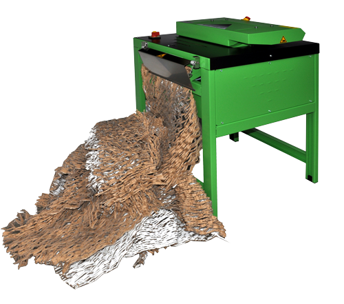 optima ecopax cardboard box shredding machines