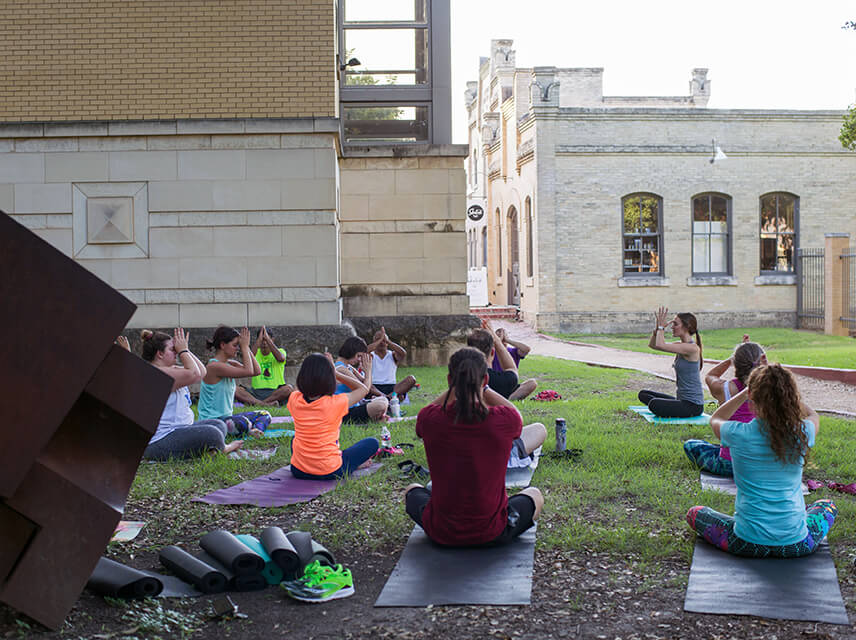 Yoga in the Sculpture Garden