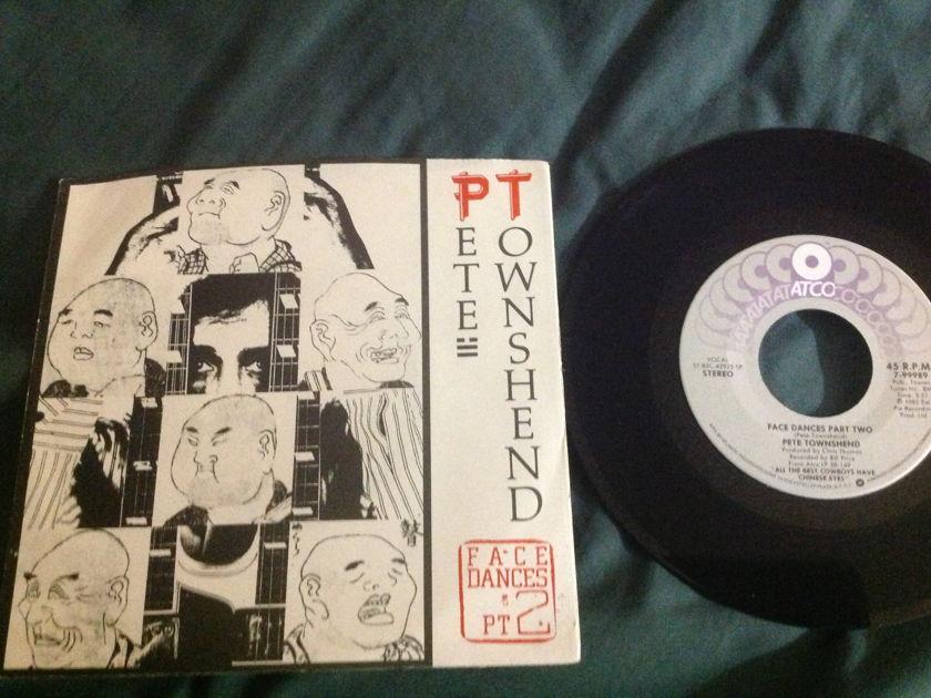 Pete Townshend - Face Dances Pt. 2 45 With Sleeve
