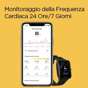 Amazfit Bip U Pro - Monitoraggio della Frequenza Cardiaca 24 Ore/7 Giorni