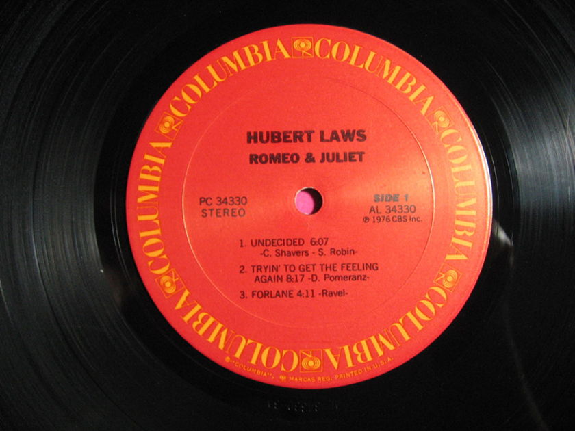 Hubert Laws - Romeo & Juliet - 1976 Columbia ‎PC 34330