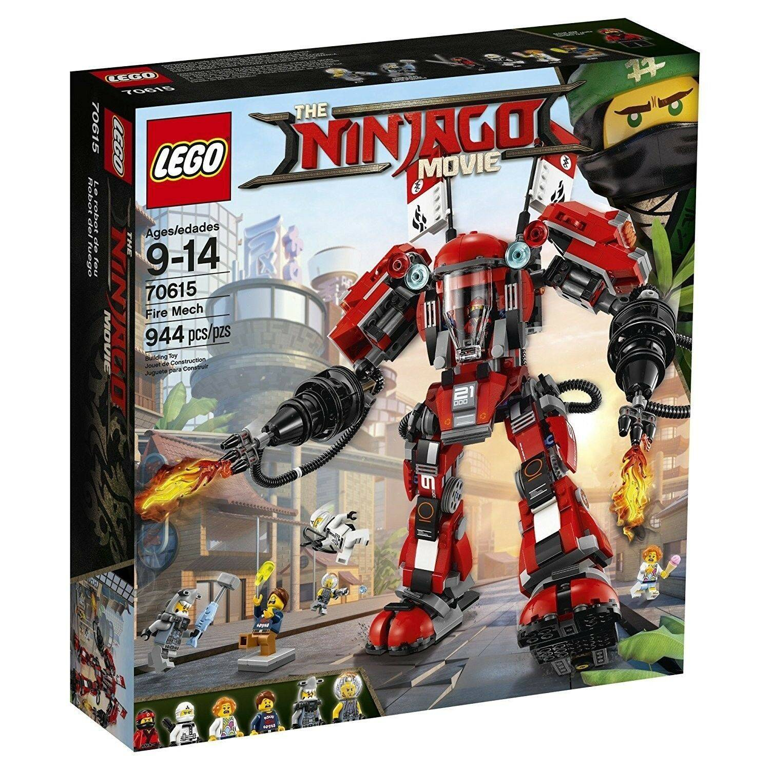 LEGO's Ninjago Movie Fire Mech Building Kit