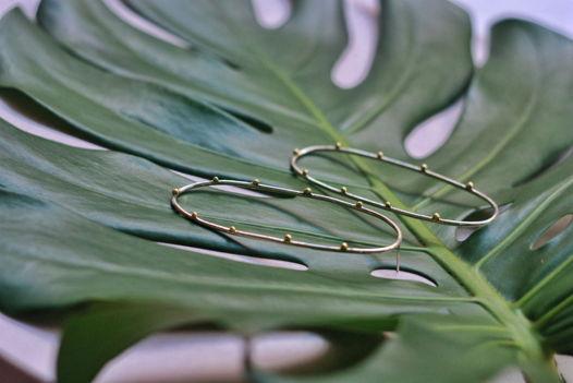 Крупные серьги овалы