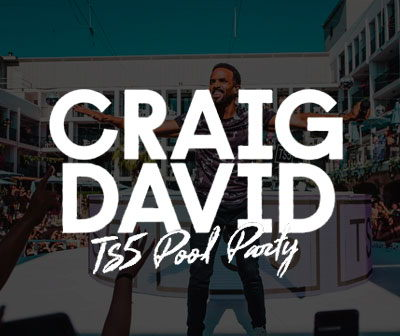 Closing party TS5 Craig David 2020, pool party, Ibiza Rocks Hotel
