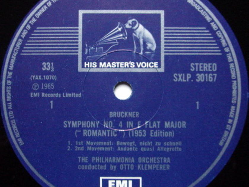 EMI HMV STAMP-DOG / KLEMPERER, - Bruckner Symphony No.4 Romantic, NM!