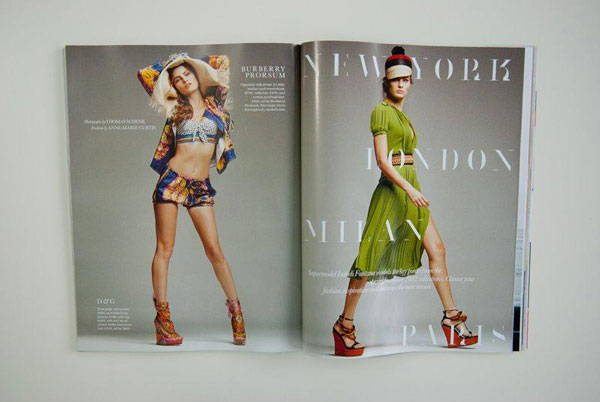 Paris Typeface in ELLE UK fashion magazine