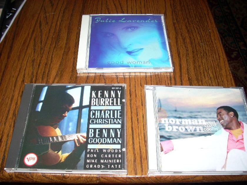 Kenny Burrell - Norman Brown - -Julie Lavender  Group of 3 CDs