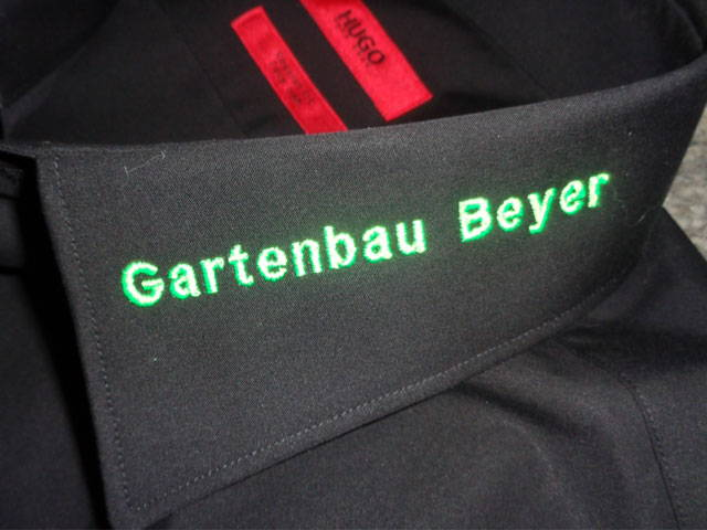 Hemden besticken Gartenbau Beyer