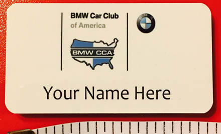 KC BMW Club Official Name Badges