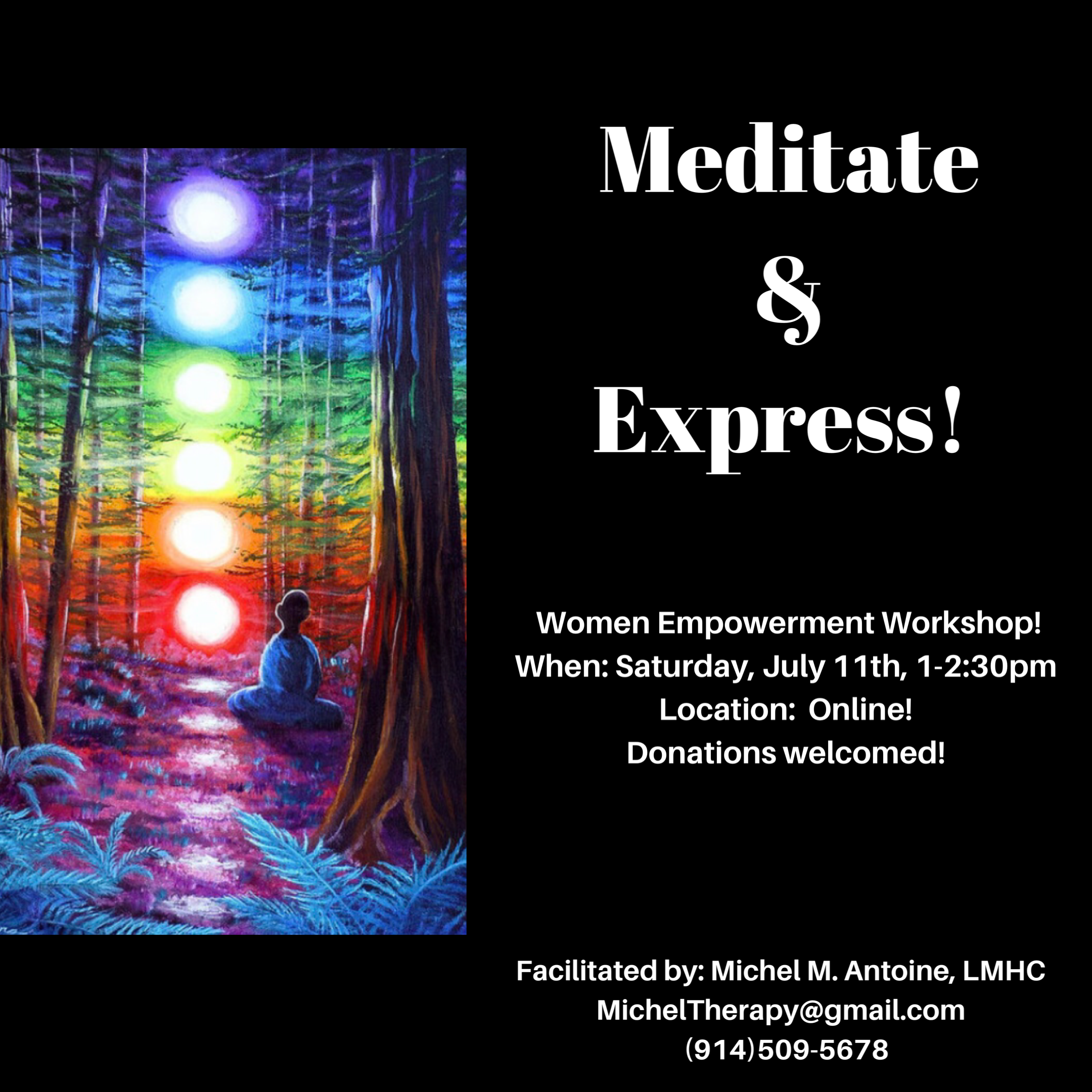 WOMENS EMPOWERMENT WORKSHOP  Join us for an engaging workshop that focuses on  building self-esteem When Saturday July 6th  Time 1-230pm Location Valhalla NY please DM f.PNG