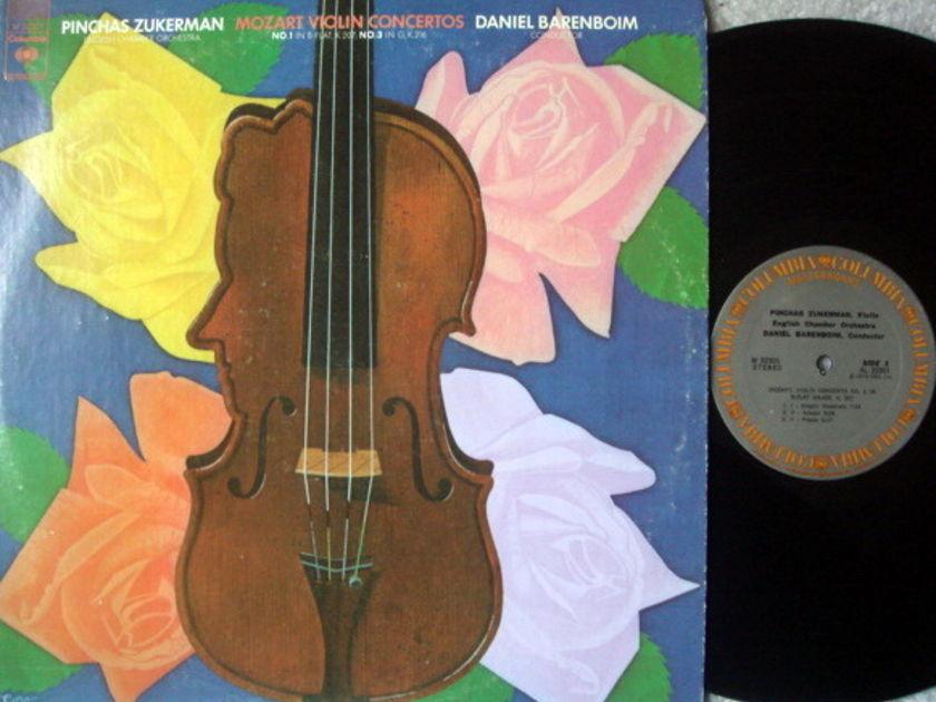 Columbia / ZUKERMAN-BARENBOIM, - Mozart Violin Concertos No.1 & 3, NM!