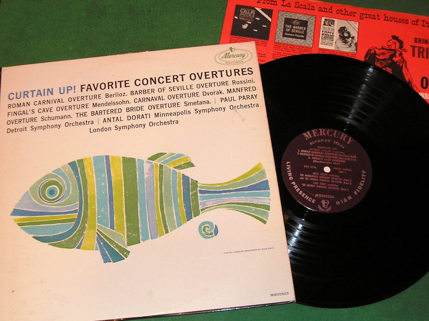 CURTIN UP! FAVORITE CONCERT OVERTURES - ** RARE 1963 MERCURY OLYMPIAN SERIES ** PROMOTIONAL COPY - NM 9/10