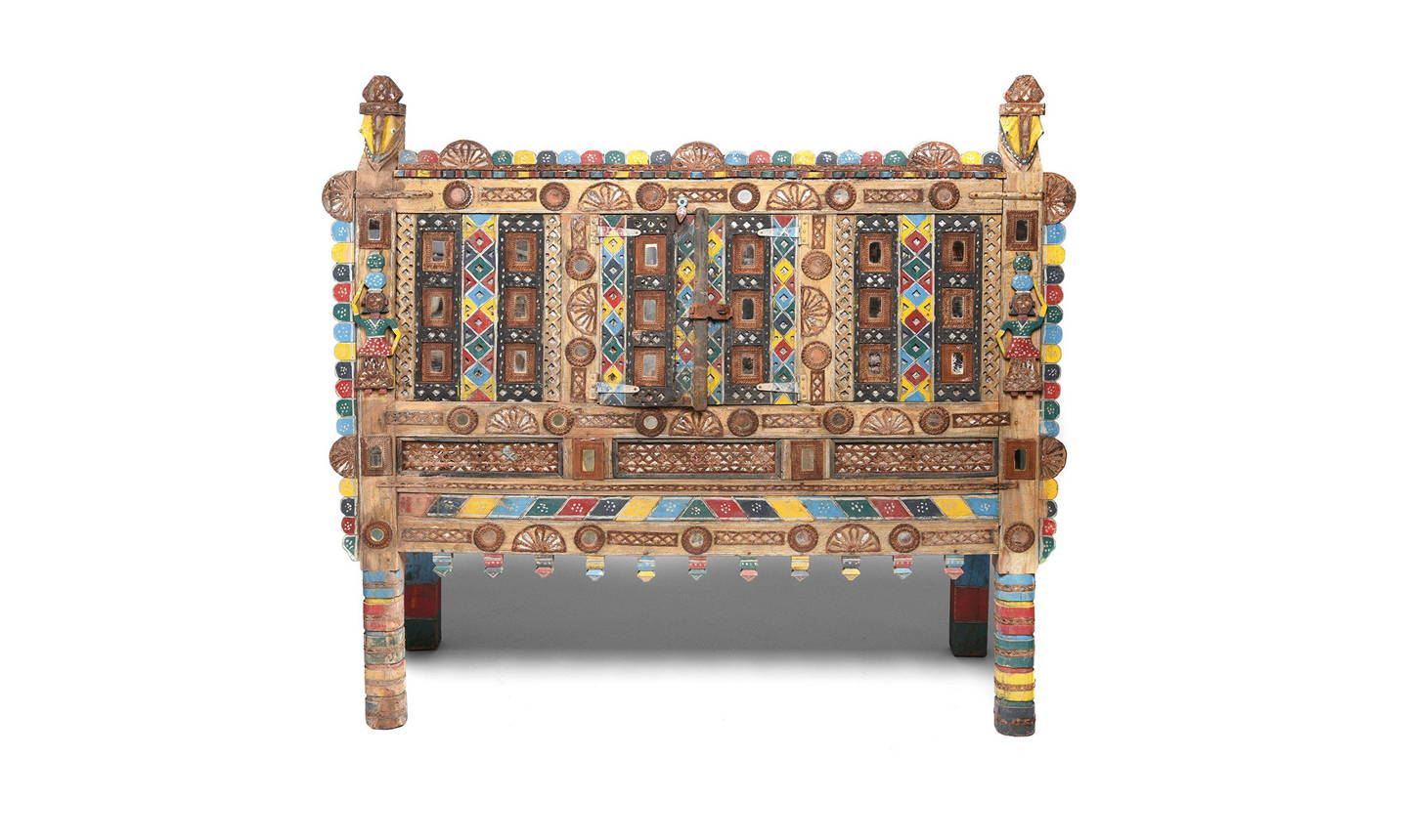 "Indian ""Damchiya"" Dowry Chest From Kutch - Ca 1920 
