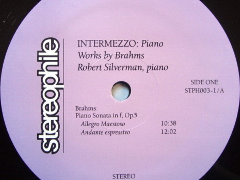 ★Audiophile★ Stereophile / ROBERT SILVERMAN, - Works for Piano by Brahms, MINT(OOP)!