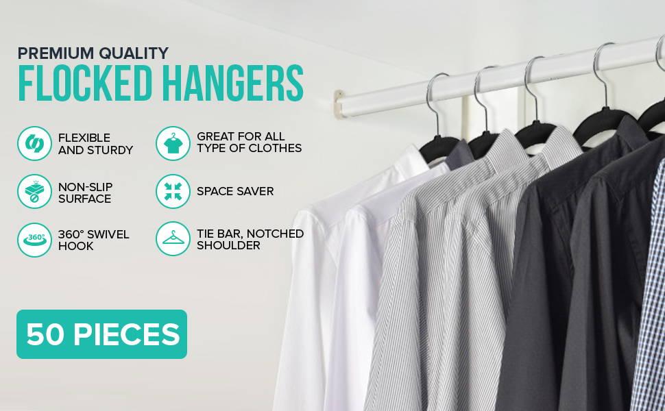 Premium Flocked Hangers