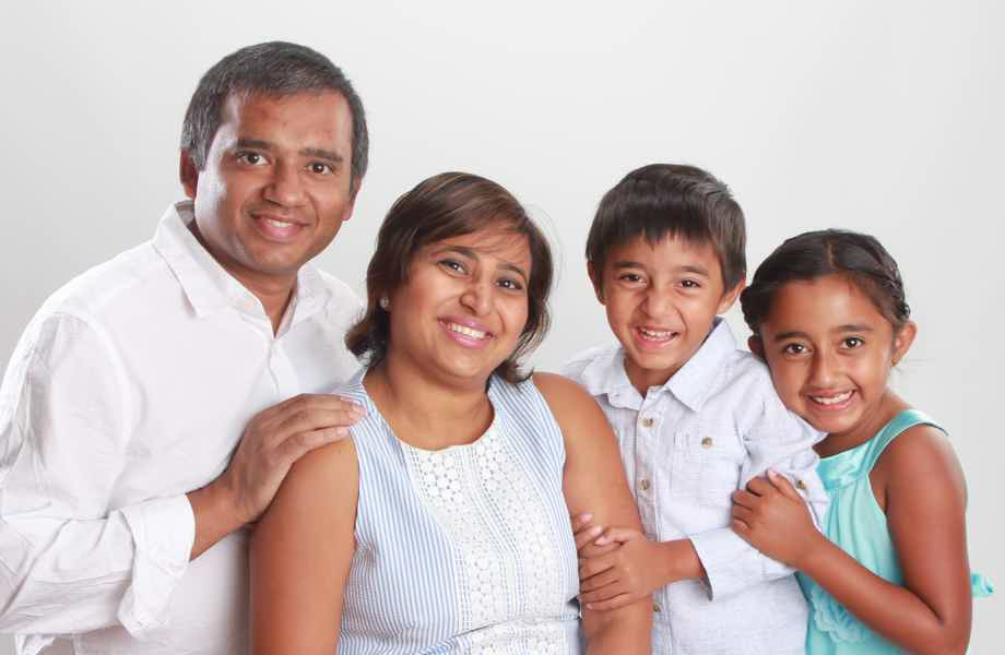 Franchise Owners of Primrose School Neha and Piyoosh Jalan with their family