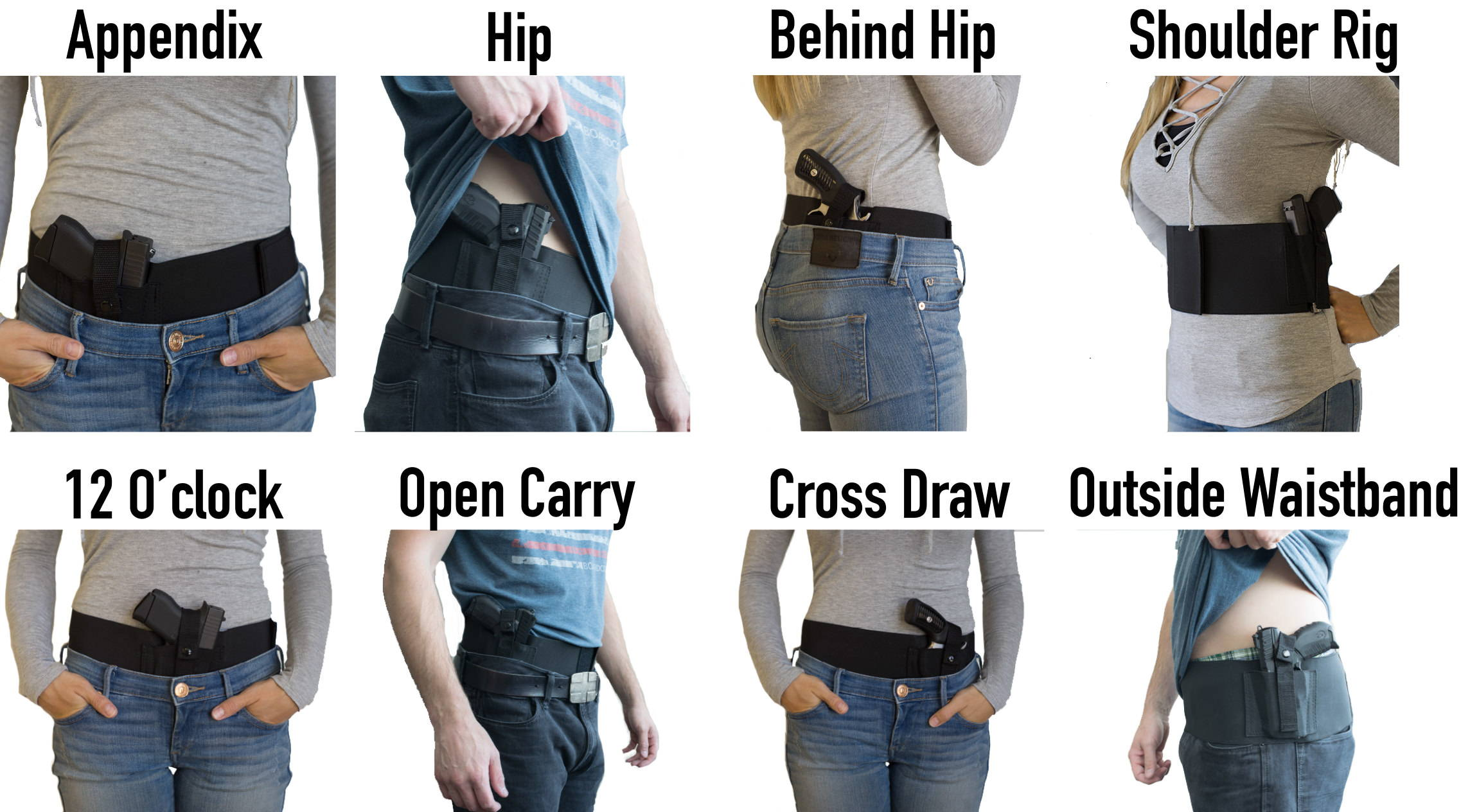 left hand shoulder holster, shoulder gun holster, belly holster, right hand shoulder holster