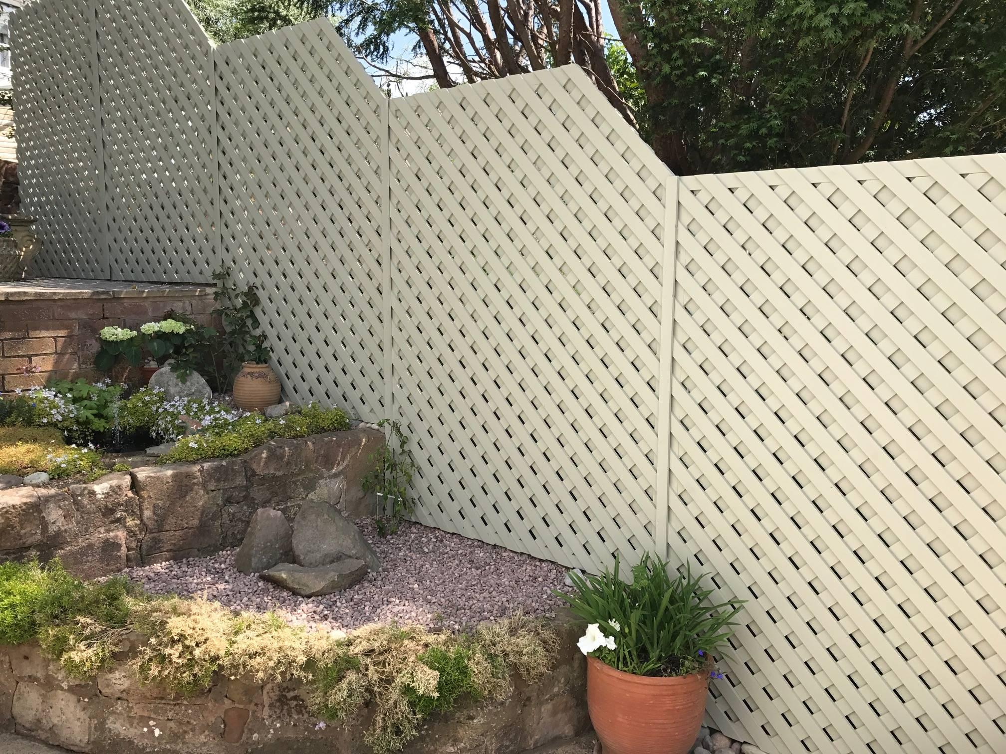 Painted Garden Trellis