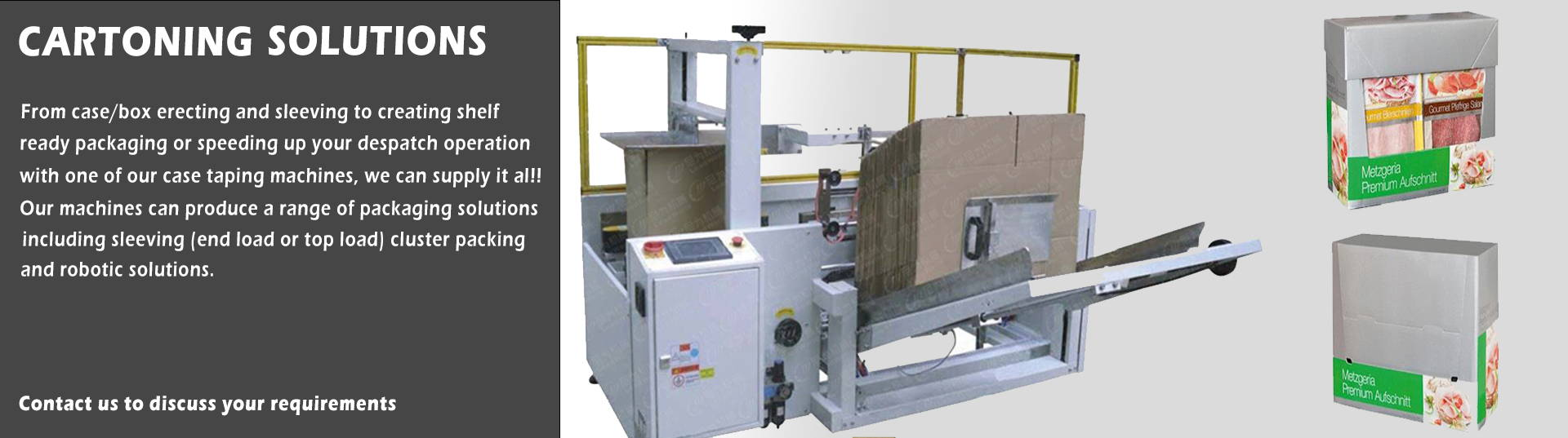 carton erection and box taper machines