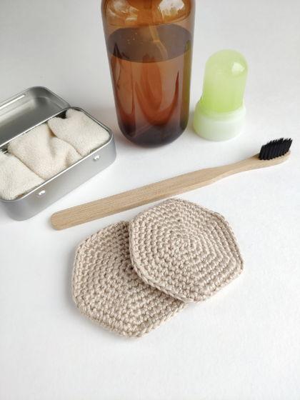 Набор бамбуковых многоразовых дисков для снятия макияжа 5 шт