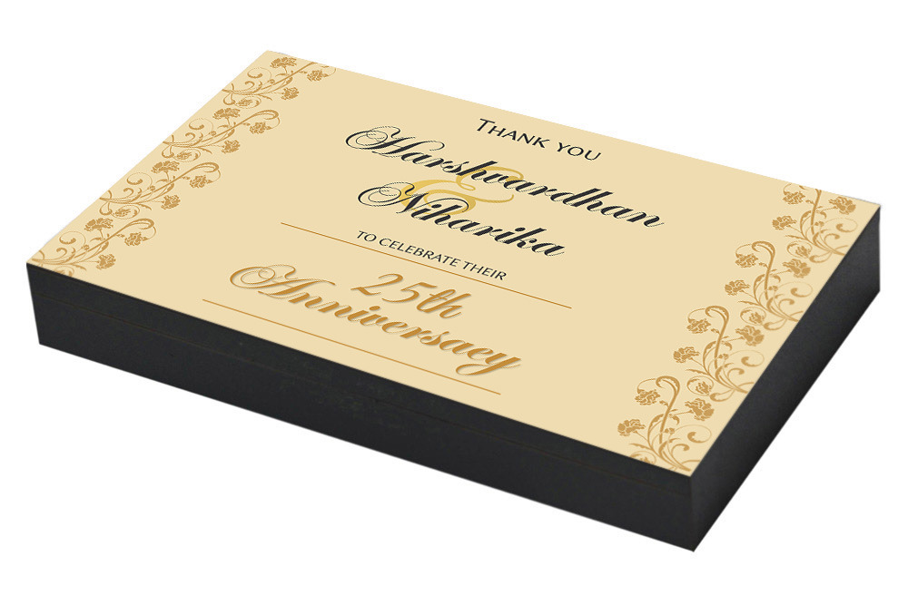 Traditional 25th Wedding Anniversary Gifts: 25th Wedding Anniversary Invitation & Return Gifts