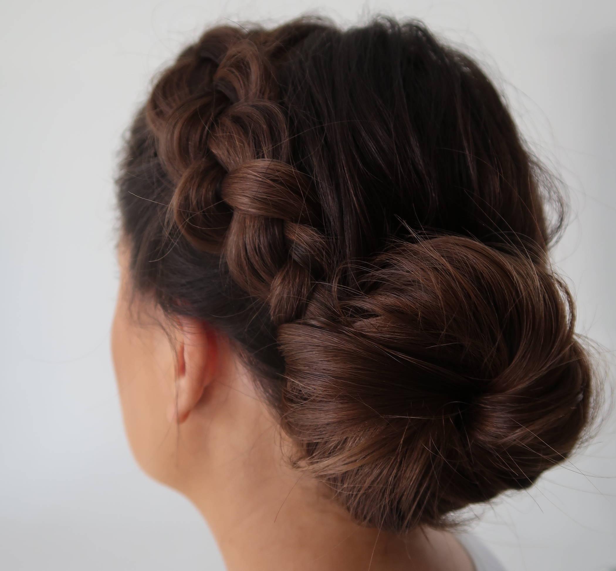 Davines braided bun hair tutorial