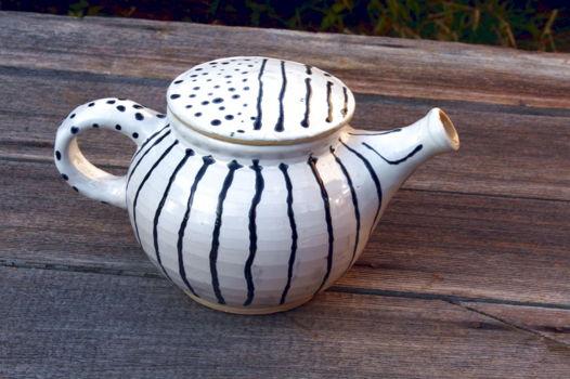 """чайник заварочный, бело-черный, """" Строгий"""""""