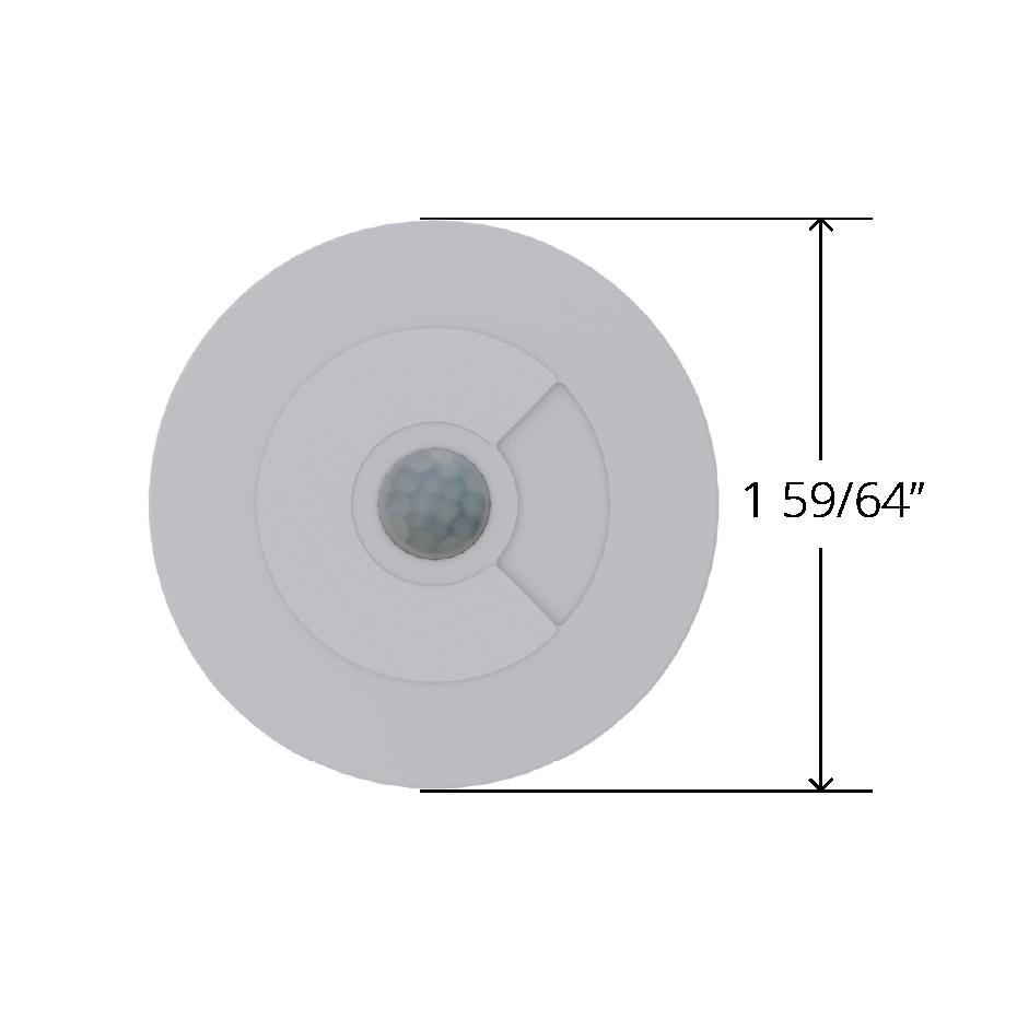 Faradite 0-10v motion sensor measuring 49mm diameter
