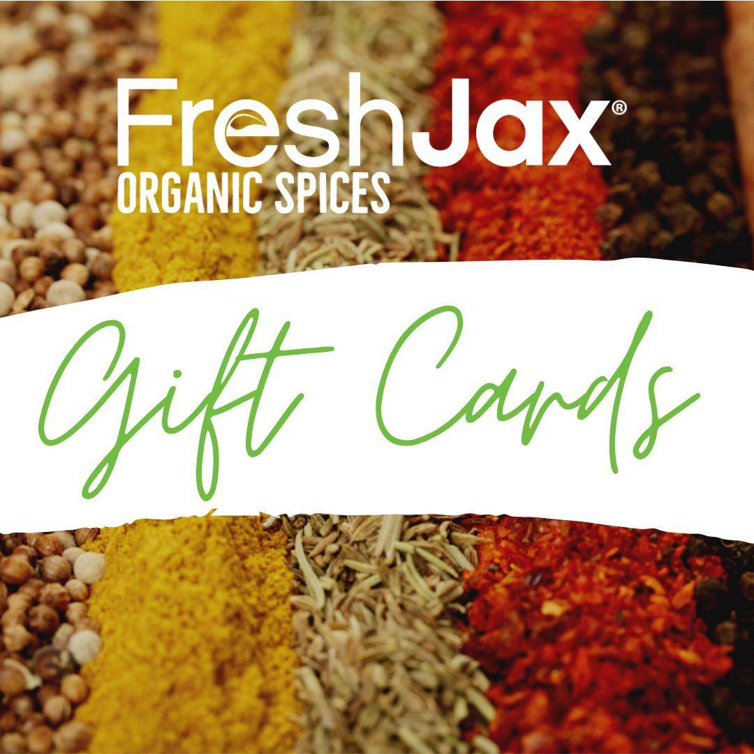 freshjax organic spices gift card