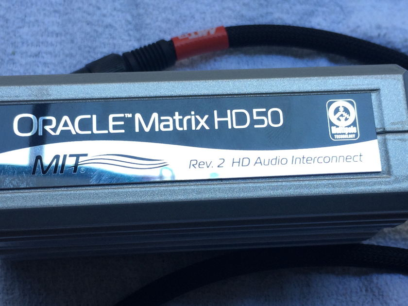 MIT Oracle Matrix 50 Rev.2 Balanced Interconnect XLR 1.5M(5ft) Pair - FREE SHIP!
