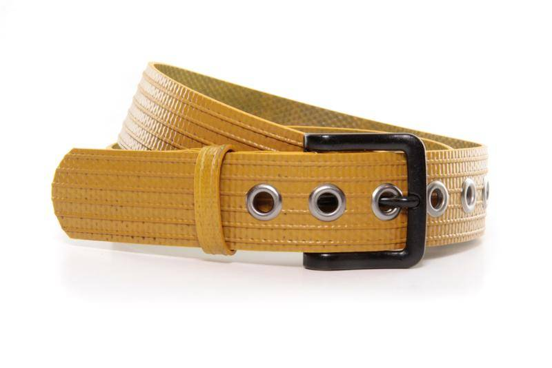 An Elvis and Kresse belt made from recycled fire hoses