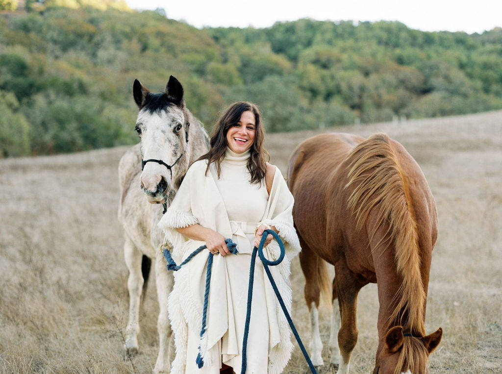 Elizabeth Goodwin Welborn Founder Stick & Ball with her Polo Ponies