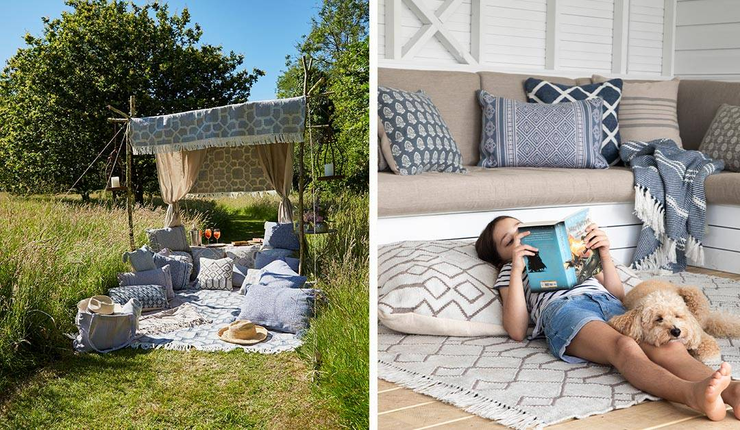 outdoor cushions from weaver green